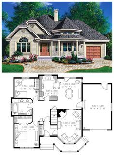 Victorian Style House Plan 65094 With 2 Bed 1 Bath 1 Car Garage House Remodeling Plans New House Plans Victorian House Plans