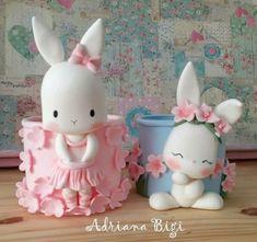 Polymer Clay Cupcake, Fimo Clay, Polymer Clay Crafts, Baby Boy Cookies, Diy Mug Designs, Crea Fimo, Pot A Crayon, 1st Birthday Cakes, Fondant Animals