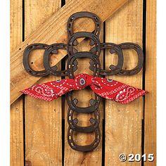 Horseshoe Decoration Ideas | Horseshoe Cross