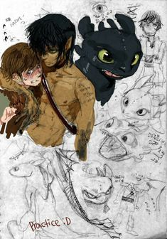 Human Toothless X Hiccup Disney Kunst, Arte Disney, Disney Art, Hiccup And Toothless, Httyd, How To Train Dragon, How To Train Your, Cartoon Characters As Humans, Anime Characters