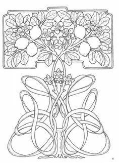 Tree Pattern Illustration Art Nouveau 50 Super Ideas – Welcome Motifs Art Nouveau, Design Art Nouveau, Motif Art Deco, Art Nouveau Pattern, Bijoux Art Nouveau, Pattern Art, Art And Illustration, Pattern Illustration, Embroidery Art