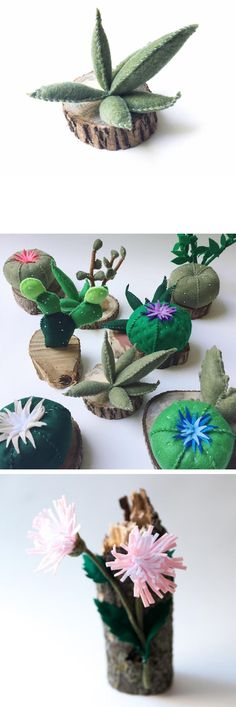 Felt crafts by Close Call Studio // craft // felt sculptures // soft sculpture