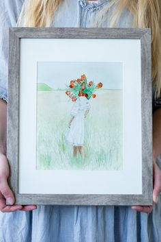 """""""Spring Becomes Her"""" Tulips floral head watercolor painting in a grass field. Grass Field, Watercolor Paintings, Watercolors, Young Love, Summer Art, Mother And Child, Spring Collection, Paintings For Sale, Tulips"""