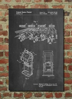 Bowling Alley Patent Art Print Patent Art by PatentPrints on Etsy