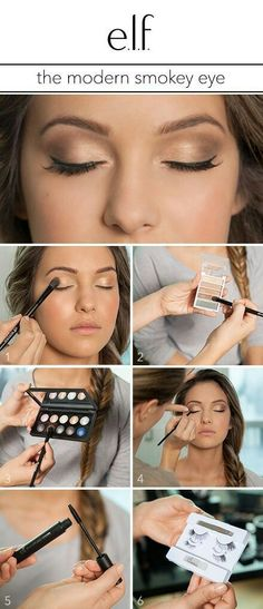 Best Eyeshadow Tutorials - The Modern Smokey Eye - Easy Step by Step How To For Eye Shadow - Cool Makeup Tricks and Eye Makeup Tutorial With Instructions - Quick Ways to Do Smoky Eye, Natural Makeup, Looks for Day and Evening, Brown and Blue Eyes - Cool I Gold Smokey Eye, Smokey Eye Makeup, Smoky Eye For Blue Eyes, Easy Smokey Eye, Black Smokey, Makeup Hacks, Eye Makeup Tips, Makeup Ideas, Makeup Tools