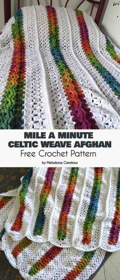 This Free Crochet pattern teaches you to make a Mile a minute afghan using the Celtic Weave and clusters. patterns Mile a Minute Celtic Weave Afghan - Free Crochet Pattern - Meladora's Creations Crochet Gifts, Easy Crochet, Crochet Hooks, Crochet Baby, Kids Crochet, Crochet Summer, Crochet Stitches Patterns, Knitting Patterns, Crochet Afghans