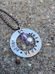 'Latin Veni Vidi Vici Hand stamped necklace' is going up for auction at 12pm Fri, Sep 28 with a starting bid of $10.