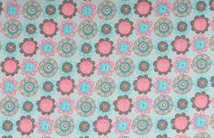 Stoff Blumen - 1056 Jersey Blumen Hellblau Pink - ein Designerstück von pretty-child bei DaWanda