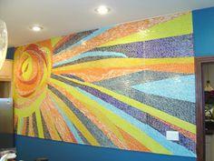 mosaic sun mural