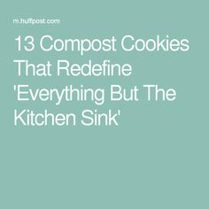 ... everything but the kitchen sink more compost cookies cookie there s