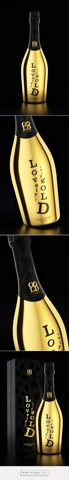 Love Is The Only Gold Sparkling ‪#‎Wine‬ ‪#‎concept‬ ‪#‎packaging‬ designed by Denis Kalinin - http://www.packagingoftheworld.com/2015/03/love-is-only-gold-sparkling-wine-concept.html
