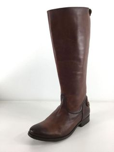 9d94a59fa87 B15 Frye Melissa Button Brown Leather Riding Boots Women Size 7.5 B   fashion  clothing