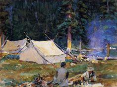 Camping at Lake O-Hara, 1916 - John Singer Sargent - WikiPaintings.org