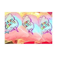cotton candy print aceo size FLOSSY LOVE AFFAIR ❤ liked on Polyvore