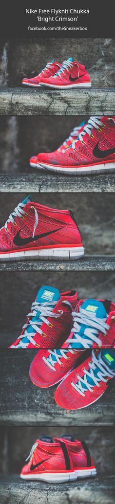 cb42b137ee60 Nike Free Flyknit Chukka -  Bright Crimson