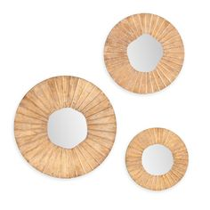 Langley Street Sylvia 3 Piece Wall Mirror Set