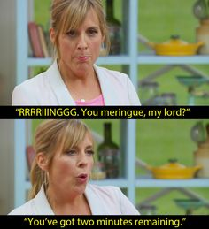 "When they had to make a Spanische Windtorte. | 17 Mel And Sue ""Bake Off"" Baking…"