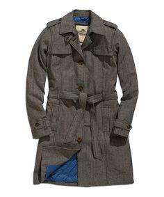 Nordic Sky Tie-Waist Trench Coat