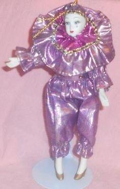 harlequin dolls | Porcelain Harlequin Doll | Harlequin, Pierrot dolls