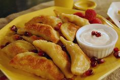 Mmm, Apple Pie Perogies! A delicious twist on the traditional perogi.