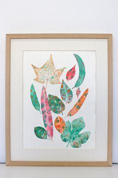 Lámina Grabado experimental de hojas. Handmade por en  Etsy MariaPascualArt Experimental, Leaves, Illustration, Nature, Pattern, Cards, Handmade, Gifts, Etsy