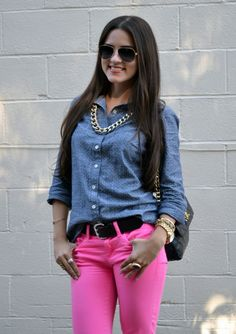 i have an outfit almost exactly like this! pink pants