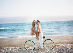 #beach #bicycles Photography by jana-williams.com/  Read more - http://www.stylemepretty.com/2013/07/16/engagement-photo-shoot-film-from-jana-williams-tim-and-co-motion-pictures/