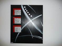 Création peinture : Carrés brillants sur toile acrylique