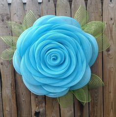 Blue Rose Deco Mesh Everyday Wreath, Year Round Wreath for Front Door,, Perfect Valentines Day Wedding Mother's Day Gift – Spring Wreath İdeas. Burlap Flower Wreaths, Sunflower Wreaths, Diy Wreath, Mesh Wreaths, Wreath Making, Wreaths For Front Door, Front Porch, Mothers Day Wreath, Year Round Wreath