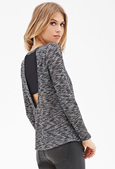 Contemporary Two-Tone Paneled Knit Top