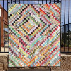 My is finally all done! Scrappy Quilt Patterns, Bargello Quilts, Batik Quilts, Scrappy Quilts, Nine Patch, Postage Stamp Quilt, Geometric Quilt, Bonnie Hunter, Strip Quilts