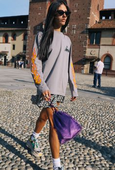 See the best street style from the Spring 2018 shows.