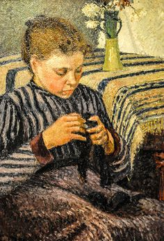 Camillo Pissarro - Woman Sewing, 1895 at Art Institute of Chicago IL