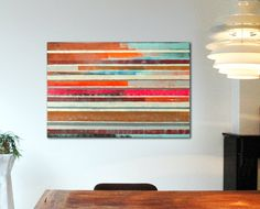 """Pop Art Colors - Striped neon - Large Abstract Painting - Acrylic painting - 31,5"""" x 47,2"""" - Free Worldwide Shipping"""