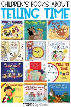 Teaching children to tell time can be tricky! Whether you are teaching children to tell time on the clock or with a calendar, picture books can help! Here are some great children's books about telling time. Kindergarten Books, Math Books, Children's Books, Teacher Books, Teacher Resources, Teaching Time, Teaching Math, Teaching Ideas, Preschool Learning