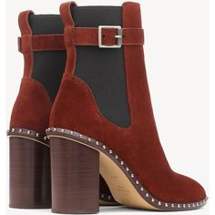 Romi Ankle Chelsea Boot (8.049.155 IDR) ❤ liked on Polyvore featuring shoes, boots, ankle booties, studded boots, suede ankle booties, suede chelsea boots, suede boots and beatle boots