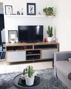 Home Decoration Ideas Ikea .Home Decoration Ideas Ikea Living Room Shelves, Living Room Tv, Living Room Interior, Home And Living, Living Room Furniture, Salon Furniture, Furniture Stores, Interior Paint, Furniture Ideas