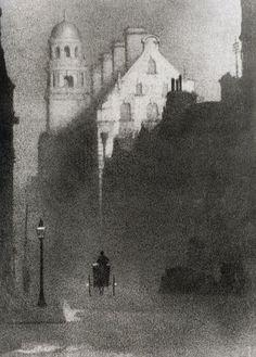 John Dudley Johnston -     Liverpool - An Impression, 1906. Gum bichromate print