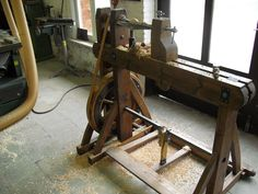 Home-made wooden lathe  Wood as building material.: April 2012