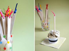 DIY Wooden Spoon Flags by ohhappyday #Party #Spoons #ohhappyday