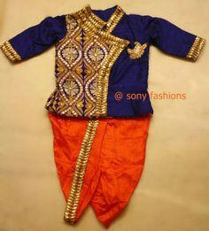 Dhoti kurta Marriage Suits, Fashion Illustration Dresses, Kids Patterns, Punjabi Suits, Ethnic Fashion, Baby Sewing, Social Platform, Indian Wear, Kids Wear
