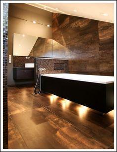 Bad houten omkadering donker bruin wit badkamer pinterest met woods and google - Badkamer donker ...