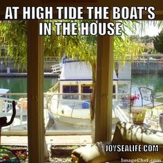JoySeaLife is about enjoying the ocean. Boating, fishing, eating, entertaining, and living the good life. Channel Islands, Boat Dock, High Tide, Great Places, Life Is Good, Ocean, California, Homes, Good Things