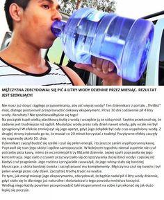 Mężczyzna zdecydował się pić 4 litry wody dziennie przez miesiąc. Rezultat jest szokujący!!!