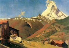 Felix Vallotton (1865-1925): Ansicht von Zermatt