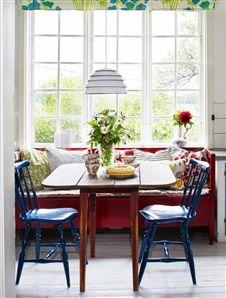 Kitchen diner - Image Via: Interiors Porn Kitchen Dinning, Dining Nook, Kitchen Nook, Dining Room Design, Dining Corner, Kitchen Seating, Cocinas Kitchen, Style Rustique, Banquette
