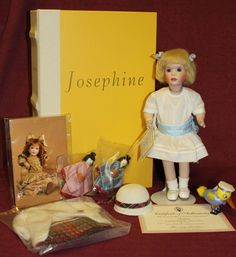 "WENDY LAWTON LIBRARY 9"" WOOD AND PORCELAIN DOLL - JOSEPHINE  #31/175  *NEW*MINT*  