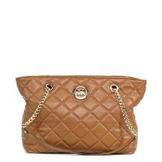 Michael Kors 'Fulton Quilt' Large EW Walnut Tote | Overstock™ Shopping - Big Discounts on Michael Kors Designer Handbags