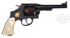 James D. Julia, Inc. -  Inscribed Custom Engraved Smith & Wesson Model 1917 Government Model DA Revolver That Belonged to Elmer Keith (Estate Collection of Elmer Keith)