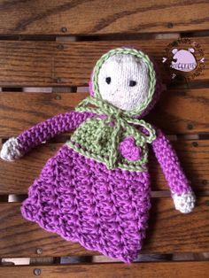 Cute little crochet & knit rag doll